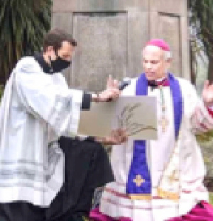 After St Junípero Serra statue torn down, Archbishop Cordileone offers exorcism prayers